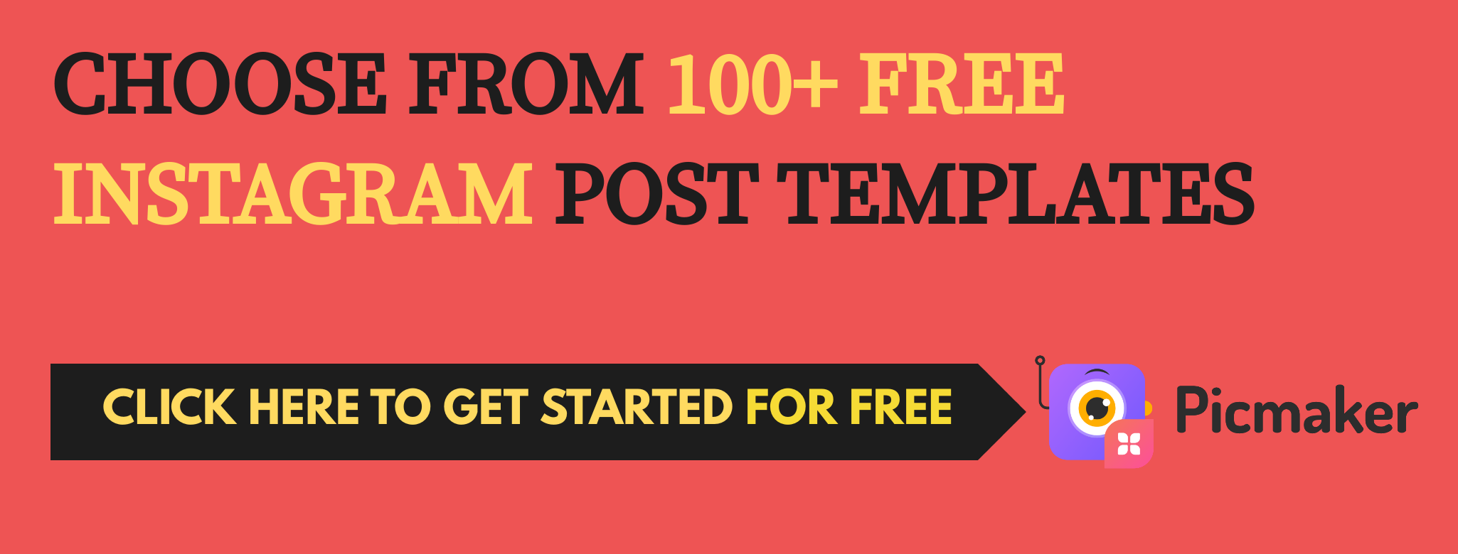 Design Instagram posts from templates - Picmaker