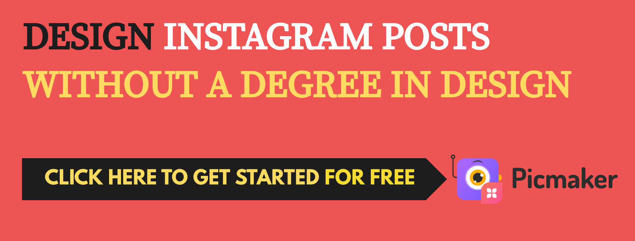 Design Instagram posts for free- Picmaker