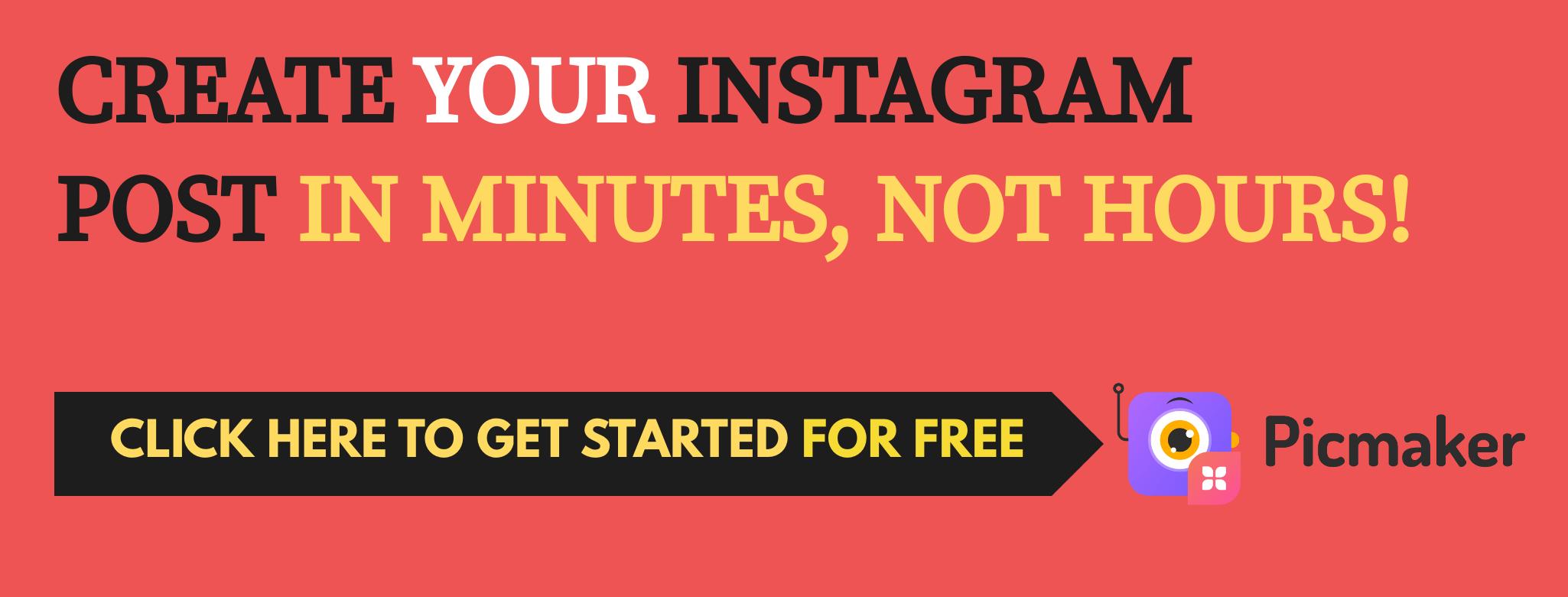 Design Instagram posts banner Picmaker