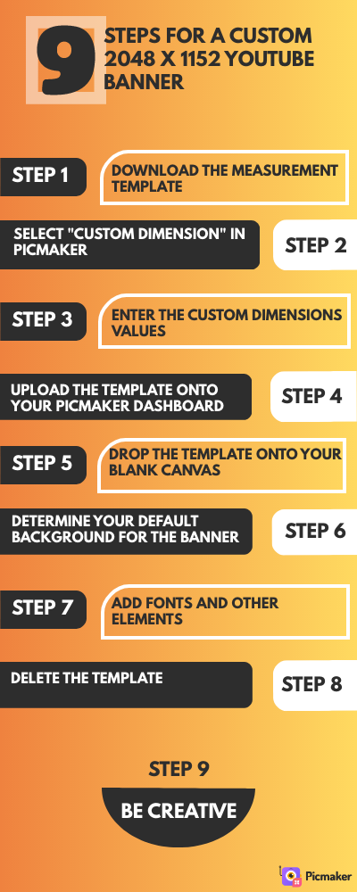 9 steps to make a custom Youtube banner for FREE!
