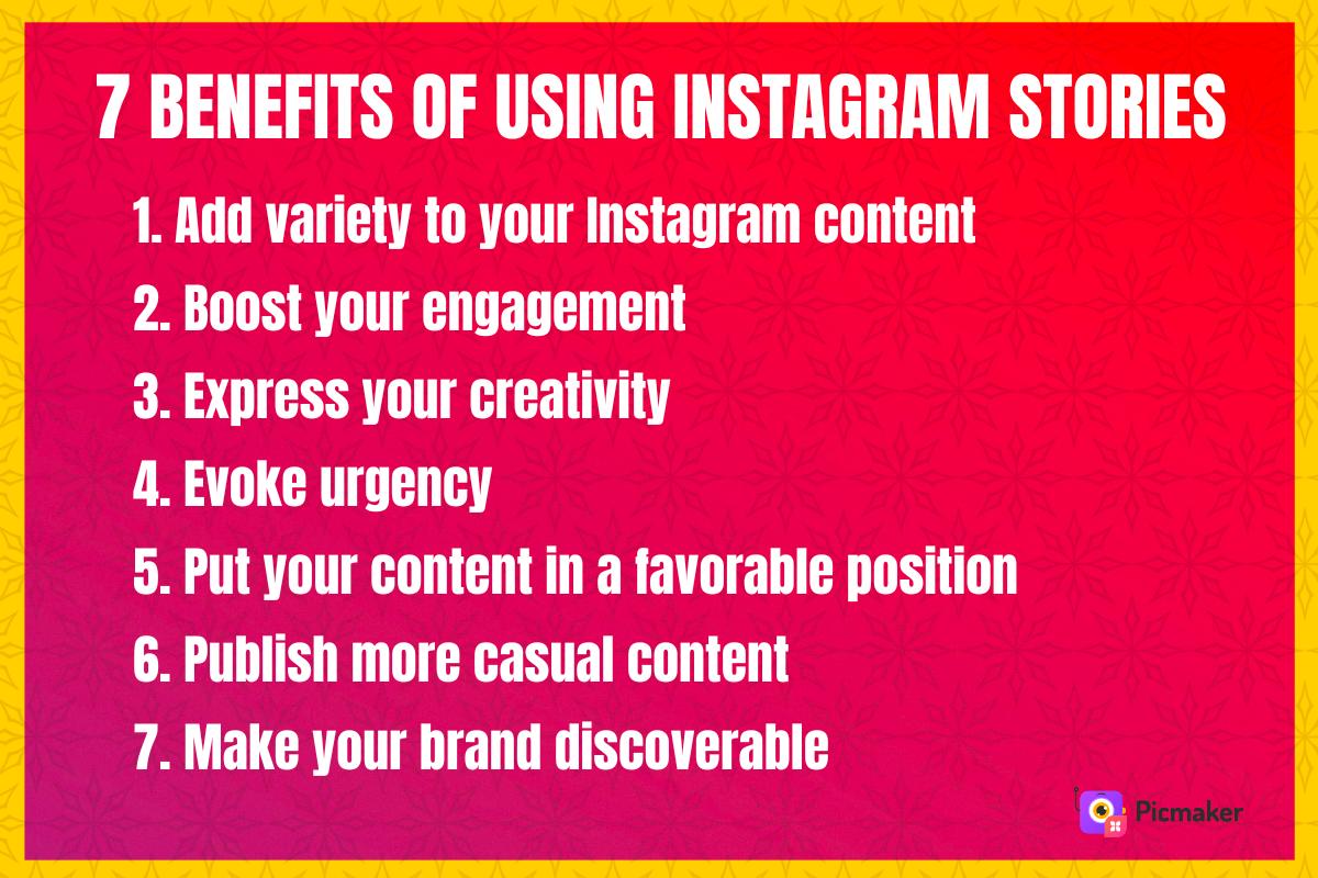 Benefits of using Instagram stories