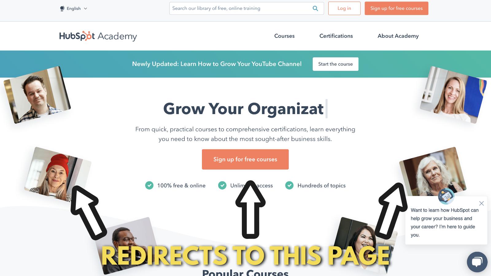 Screenshot of Hubspot academy 1