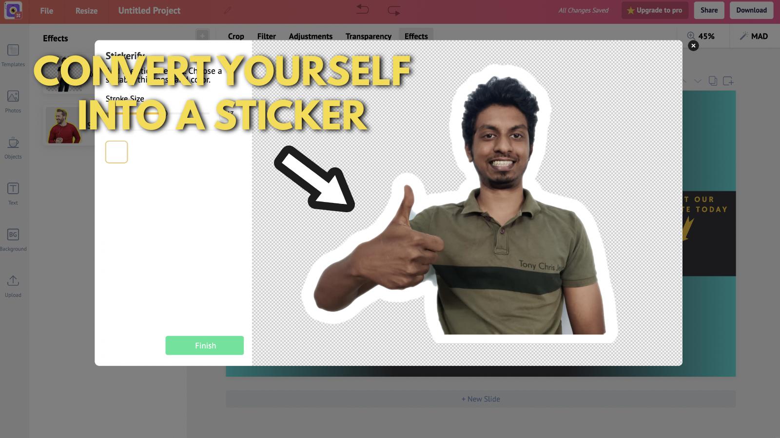 Screenshot of Picmaker's Youtube banner example blog 13
