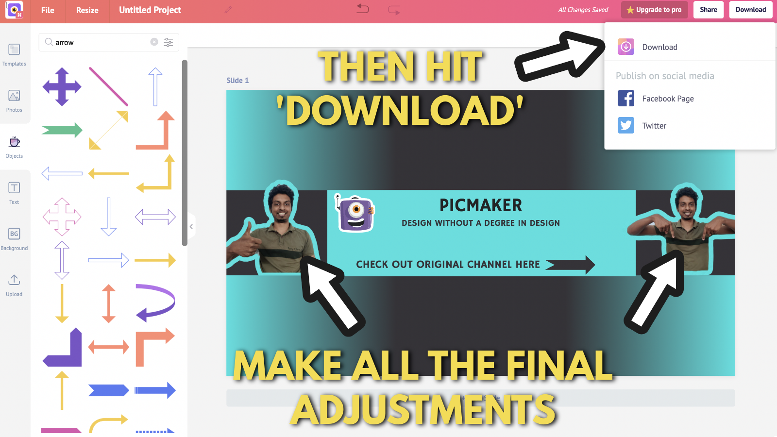 Screenshot of Picmaker's Youtube banner example blog 15