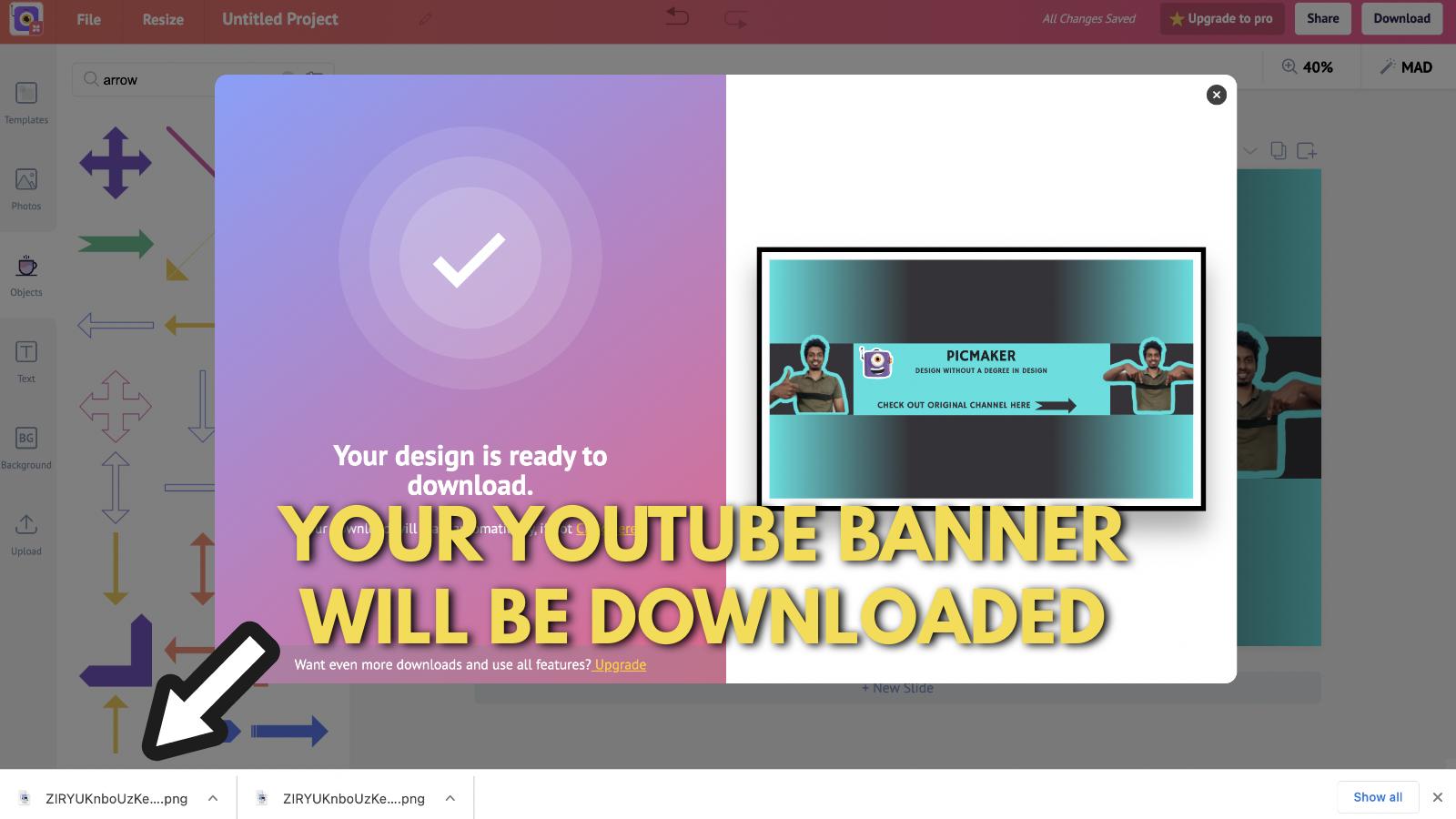 Screenshot of Picmaker's Youtube banner example blog 16