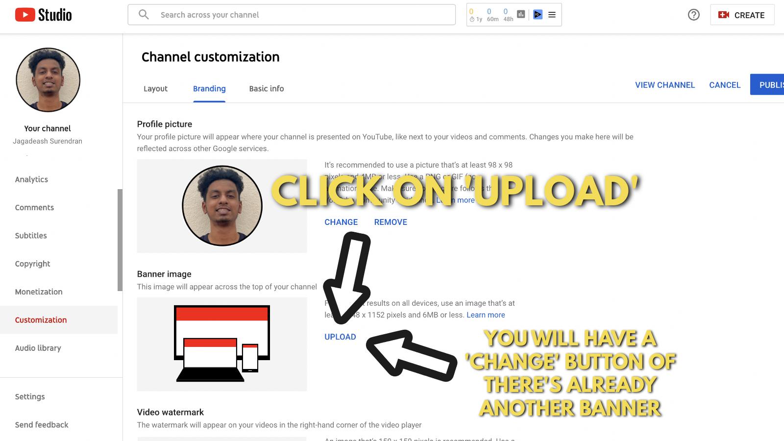 Screenshot of Picmaker's Youtube banner example blog 20