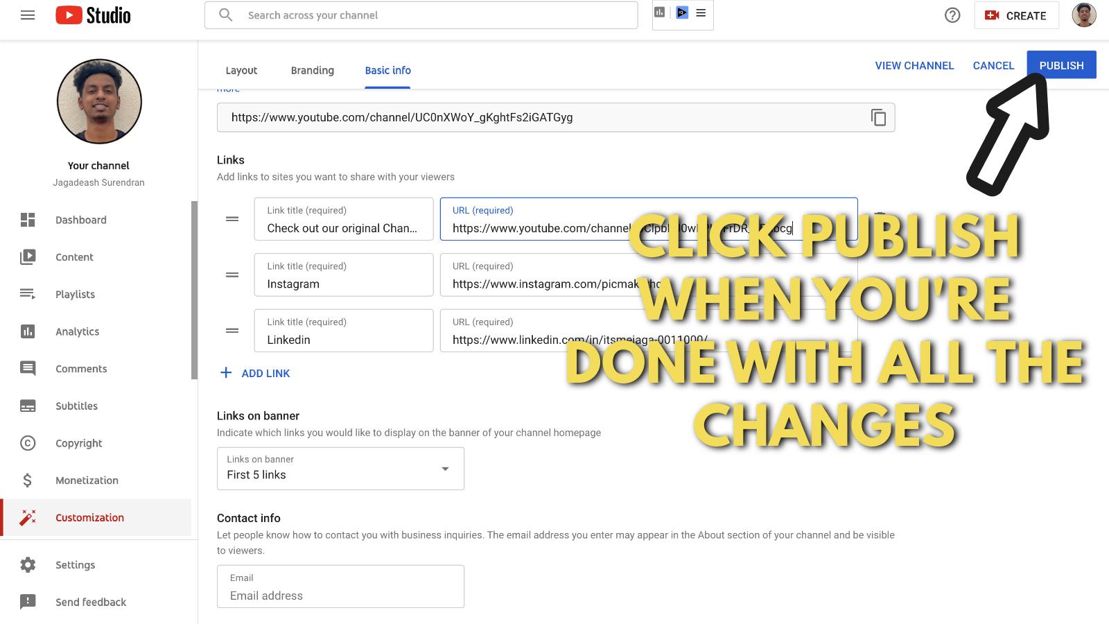 Screenshot of Picmaker's Youtube banner example blog 26