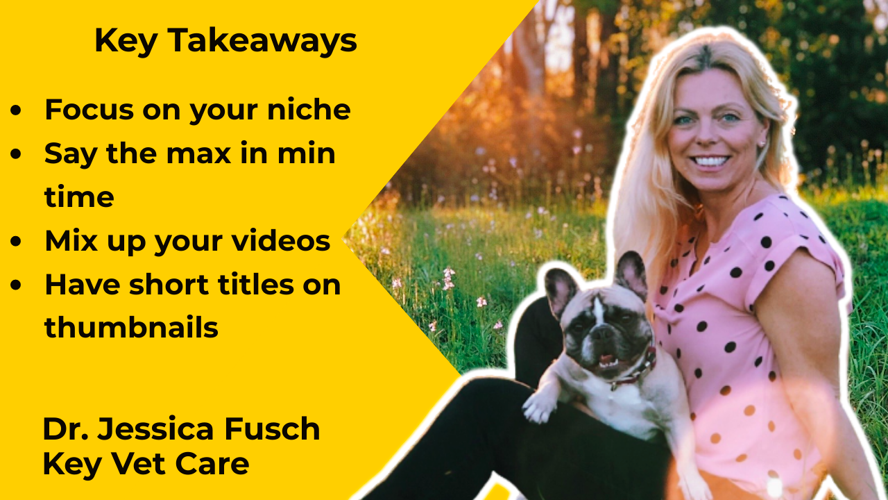 Key Vet Care's Jessica Fusch explains what it takes to become a successful YouTuber