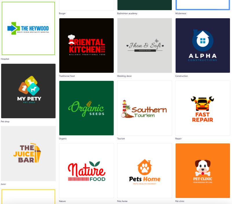 Make a logo in minutes. Logo Templates by Picmaker
