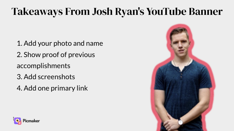 Josh Ryan's YouTube channel art example
