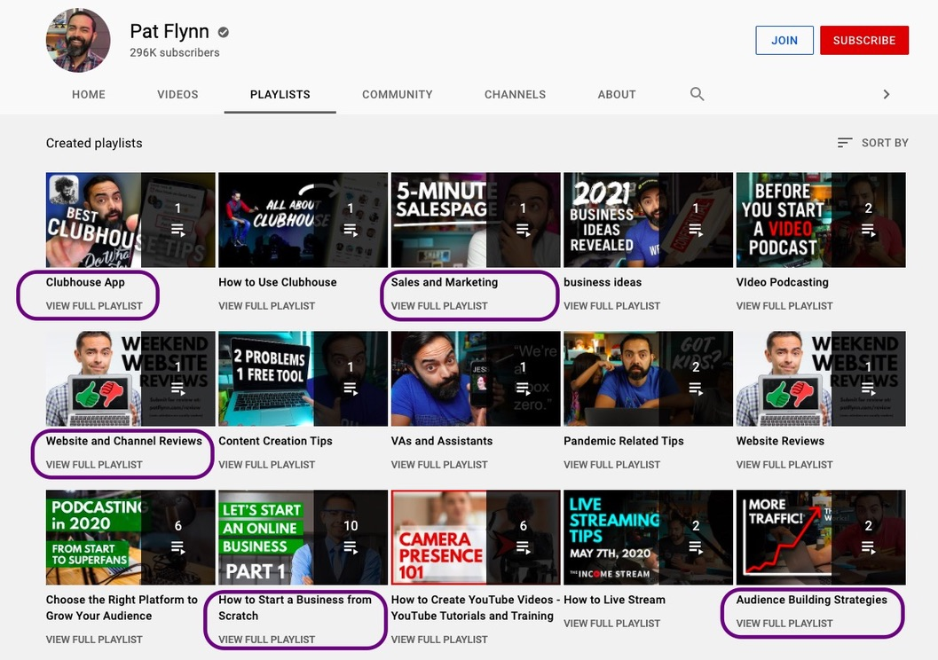 Create playlists for videos - youtube marketing tips by Picmaker