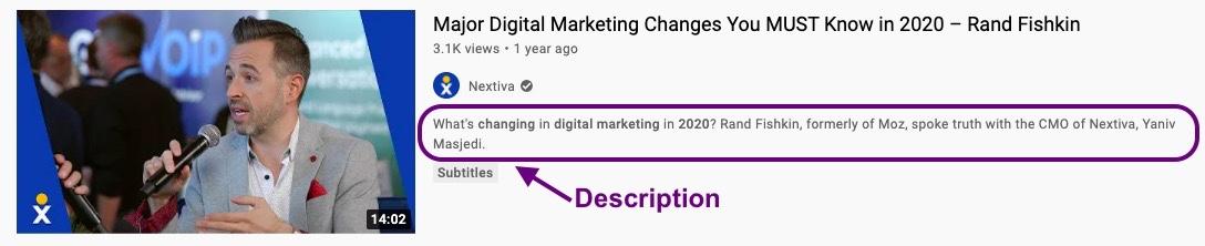 YouTube description - YouTube marketing tips