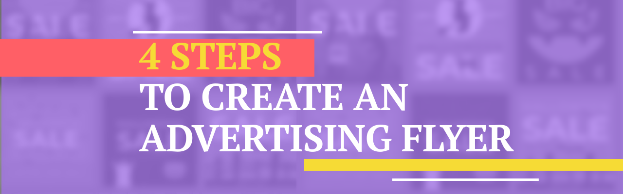 How to create an advertising flyer
