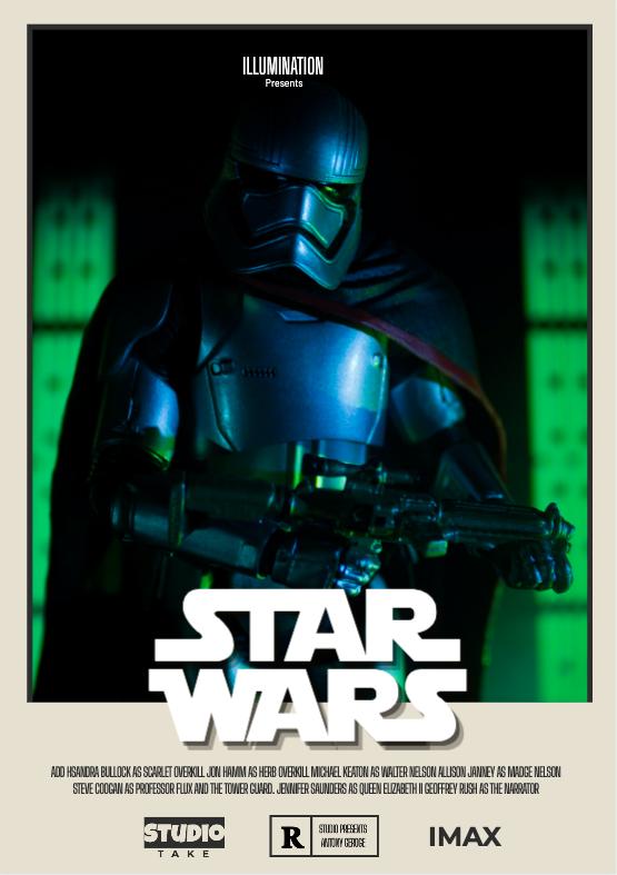 A vertical Star Wars poster