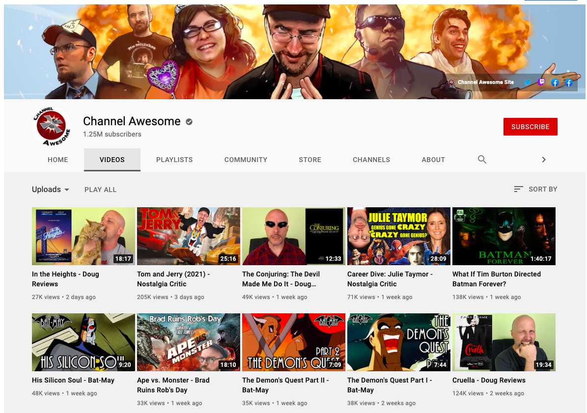 Striking thumbnails by Channel Awesome - YouTube marketing tips
