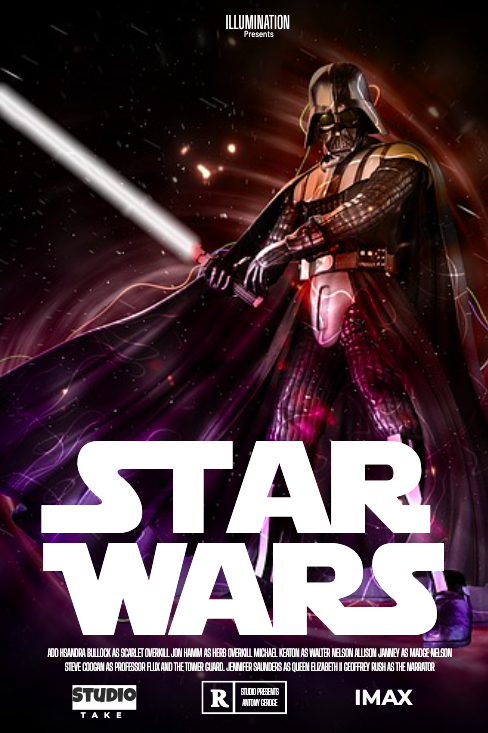 24x36 Star Wars poster designed using Picmaker