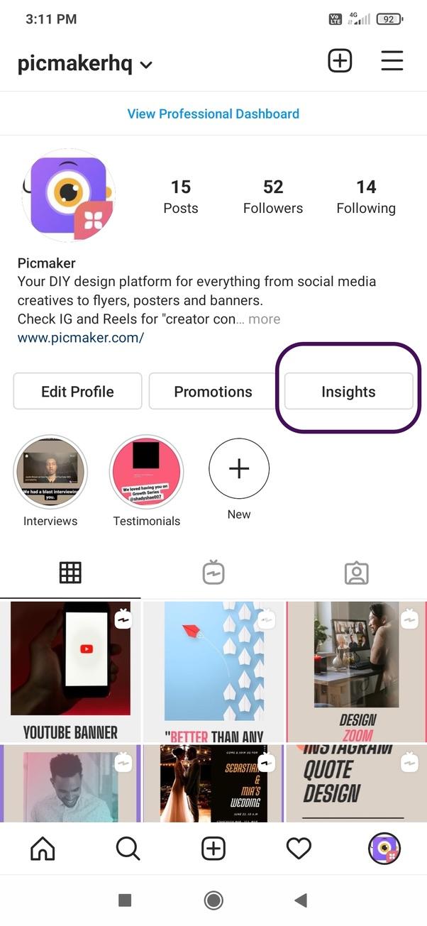 Analysing Instagram content performance