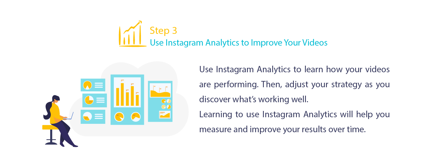 Use Instagram analytics for your videos