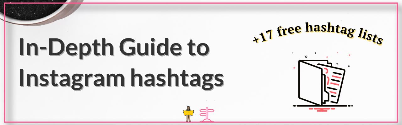 Instagram hashtags blog banner