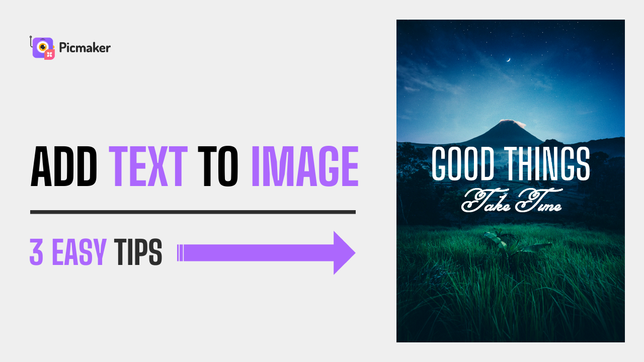 How to add text to image